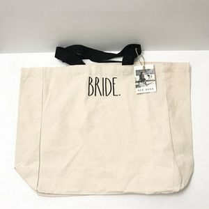NWT Rae Dunn BRIDE Embroidered Canvas Tote